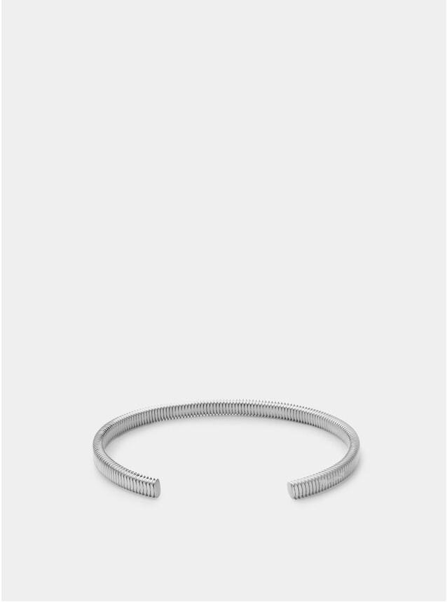 Matte Silver Thread Cuff