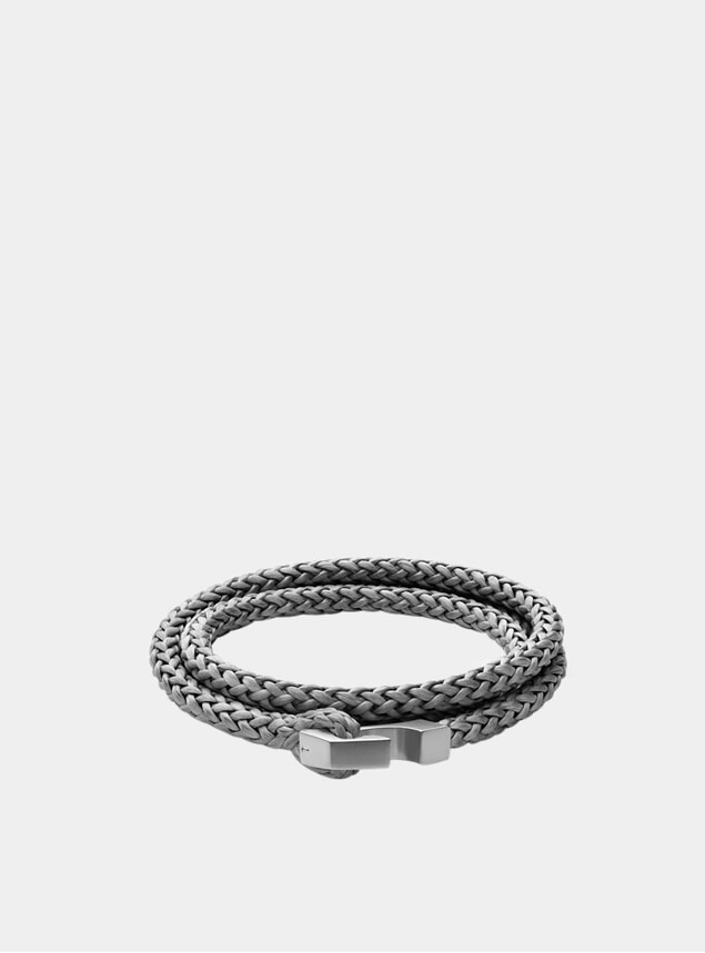 Matte Sterling Silver Ipsum Rope Bracelet
