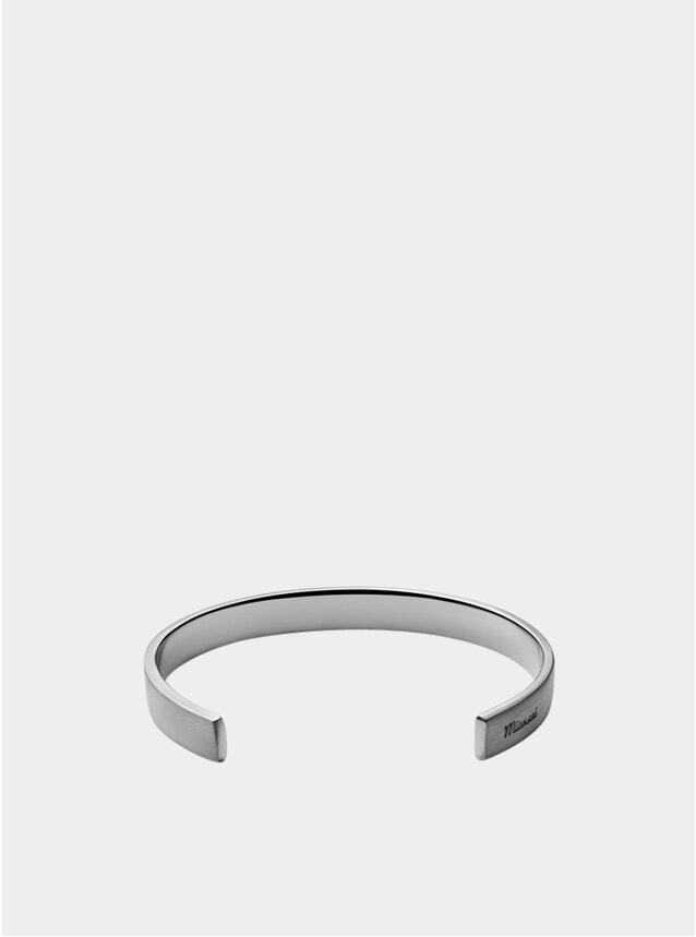 Matte Sterling Silver Label Cuff