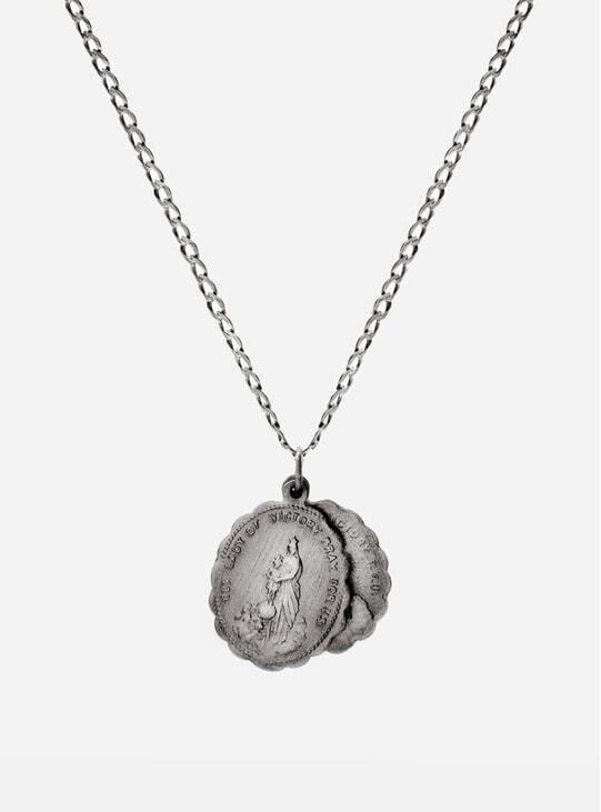 Matte Sterling Silver Saints Necklace