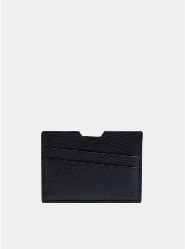 Navy Textured Modern Cardholder
