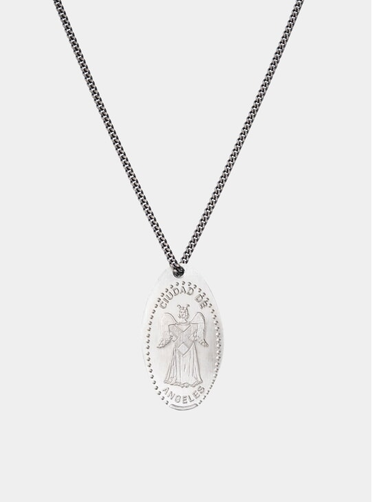 Silver Angel Chain Necklace