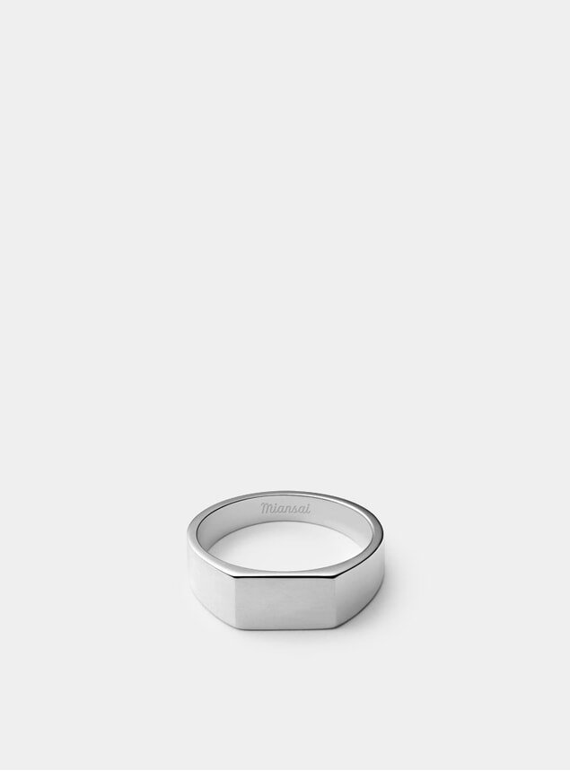 Sterling Silver Geo Signet Ring