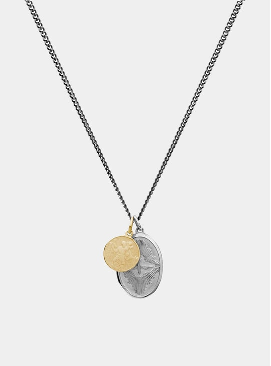 Sterling Silver / Gold Mini Dove Necklace