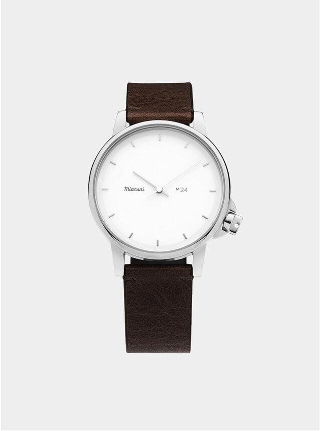 White / Vintage Chocolate Leather M24 Watch