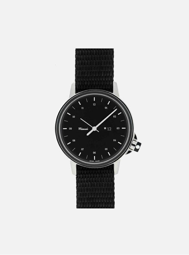 M12 Swiss Black Watch - Black Strap