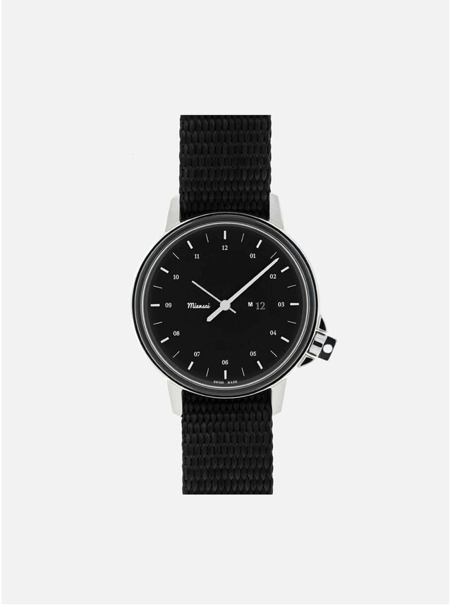 M12 Swiss Black Watch - Black Strap