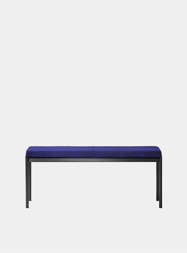 Black / Blue Textile Mies 110cm Bench