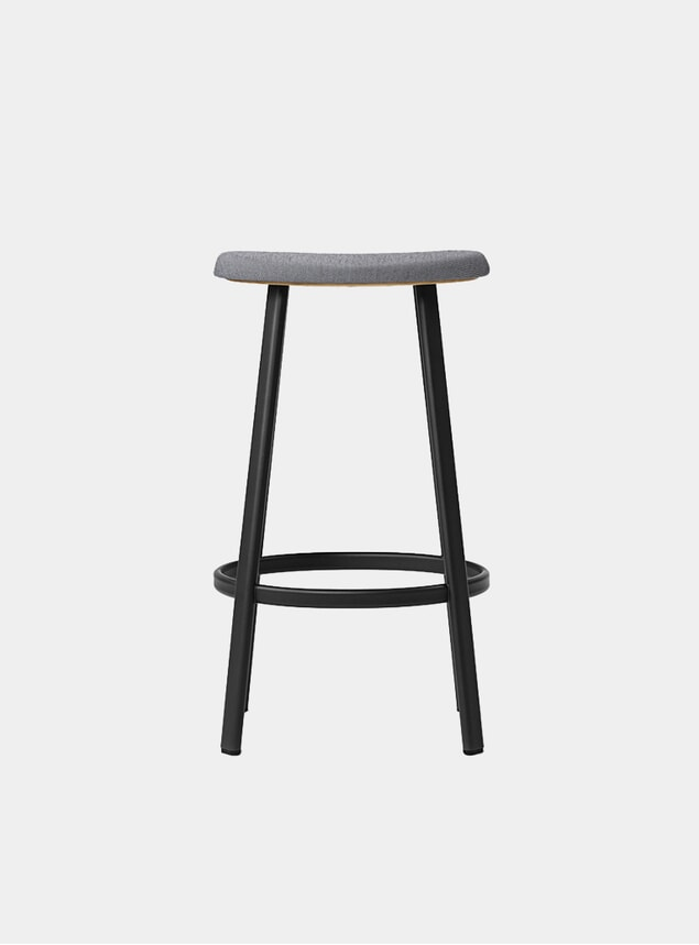 Black / Mosquito Grey Textile Anno Bar Stool