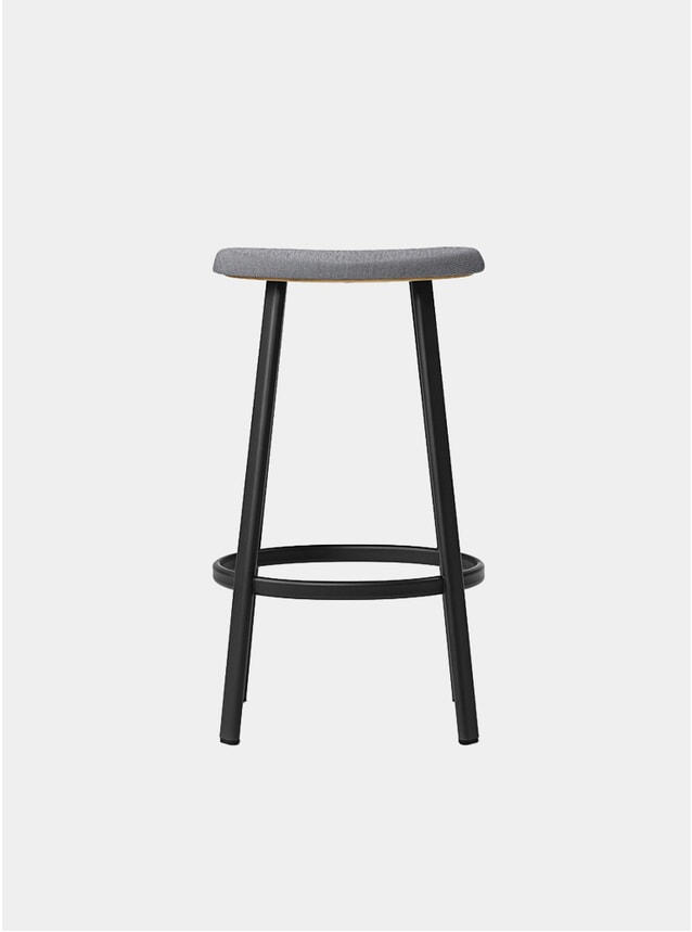 Black / Mosquito Grey Textile Anno Bar Stool