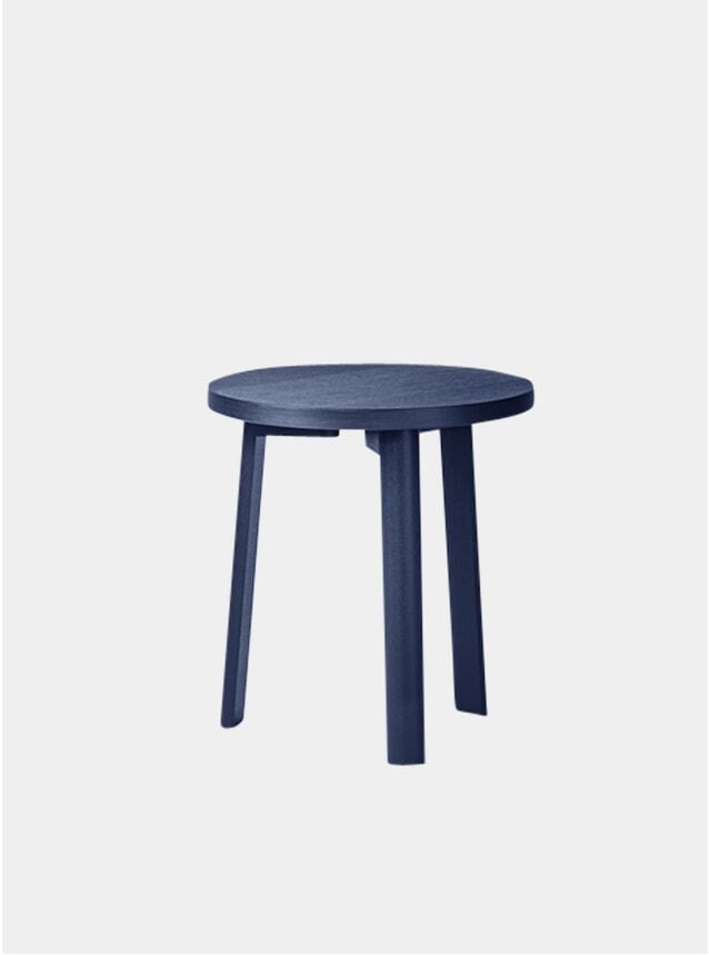 Dark Blue Oak Veneer Lounge Side Table
