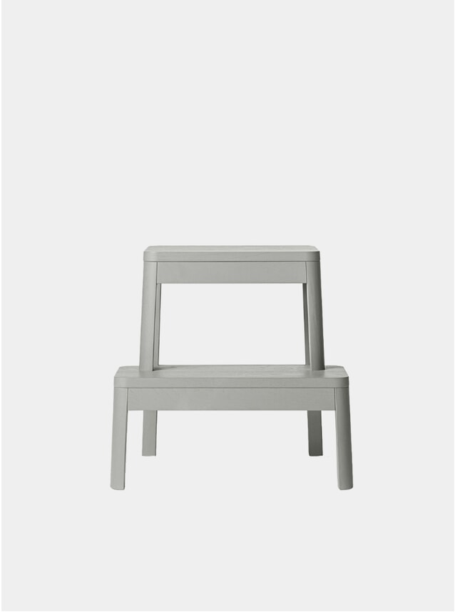 Grey Arise Solid Oak Stool