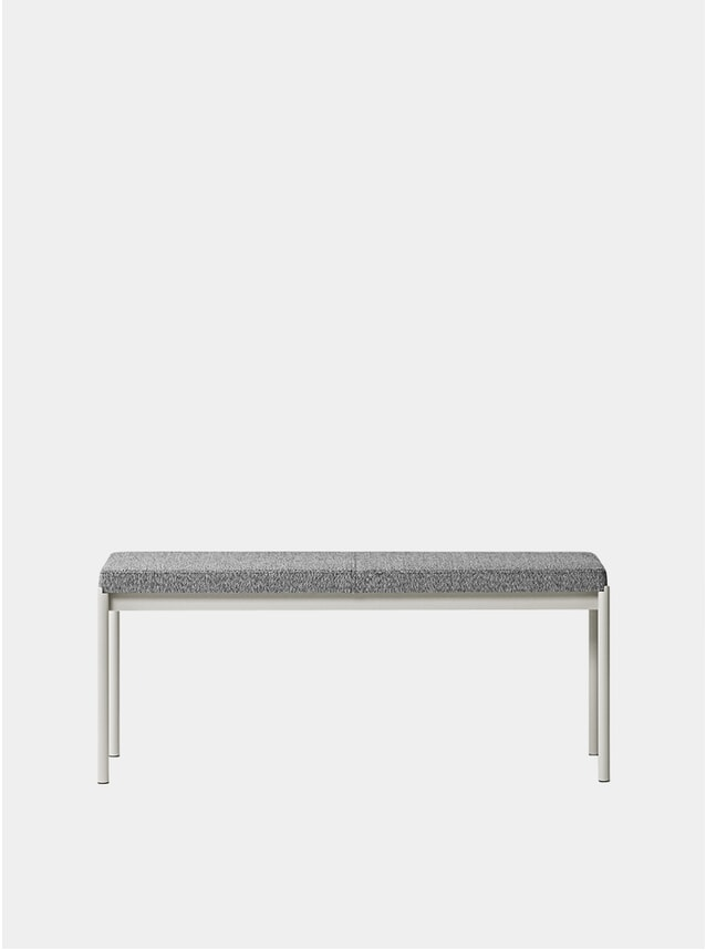 Grey Textile Upholstery Mies 110cm Bench