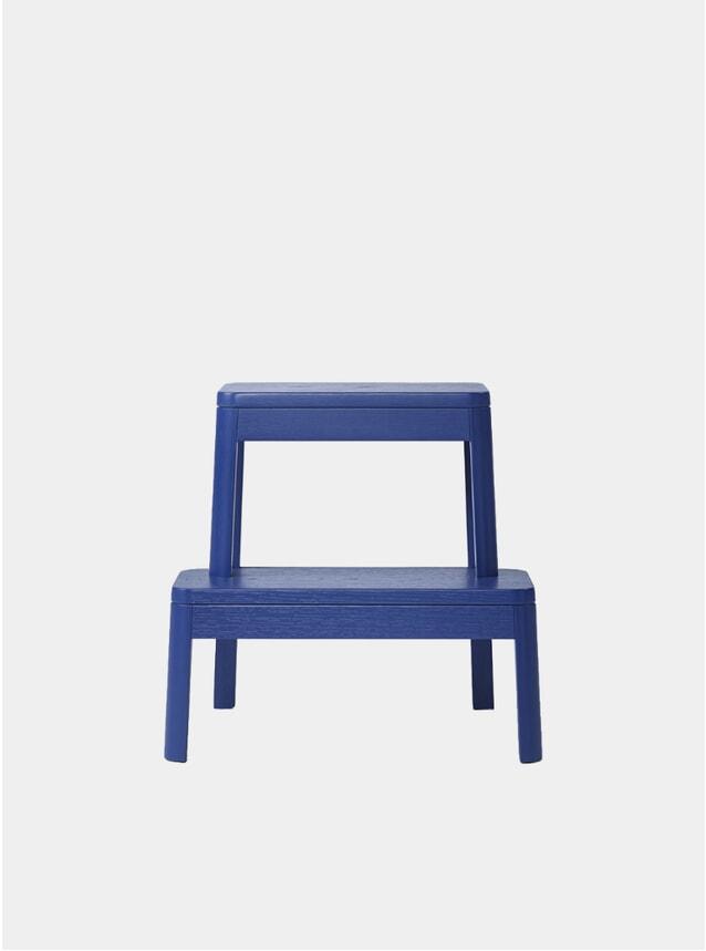 Ultramarine Blue Arise Solid Oak Stool