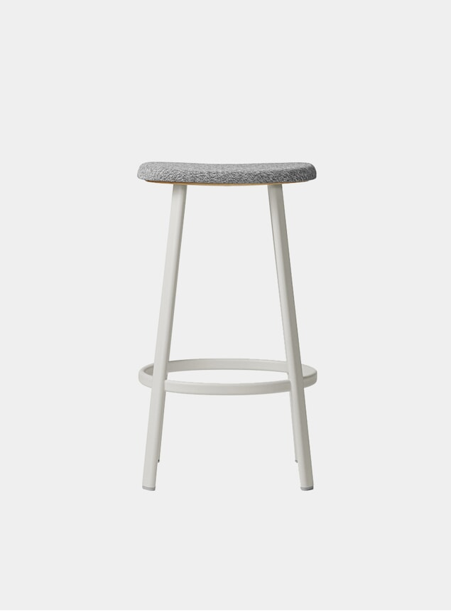 White / Mosquito Grey Textile Anno Bar Stool