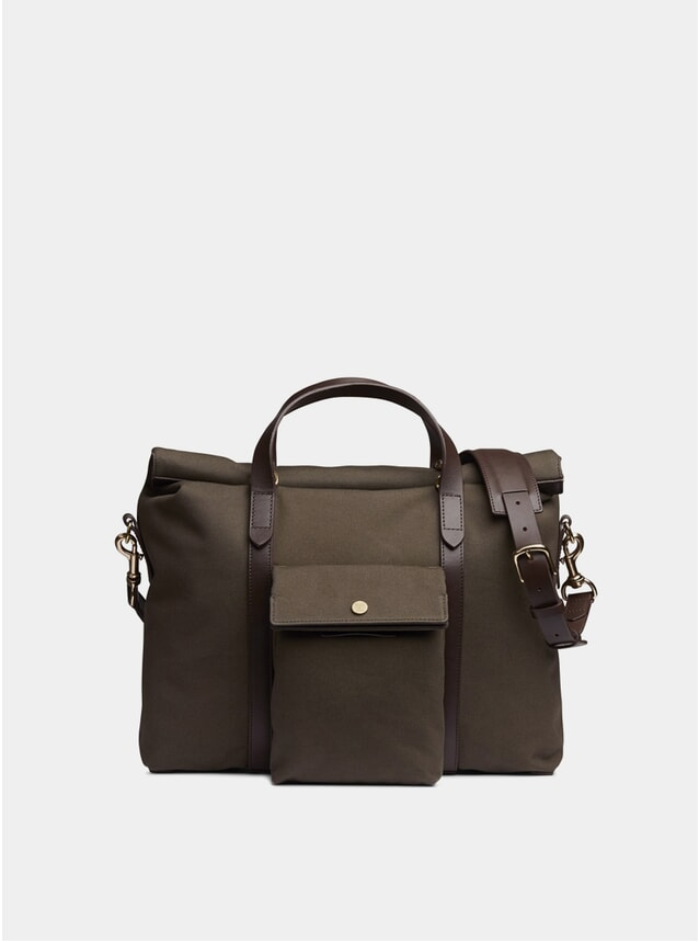 Army / Cuoio M/S Soft Work Bag