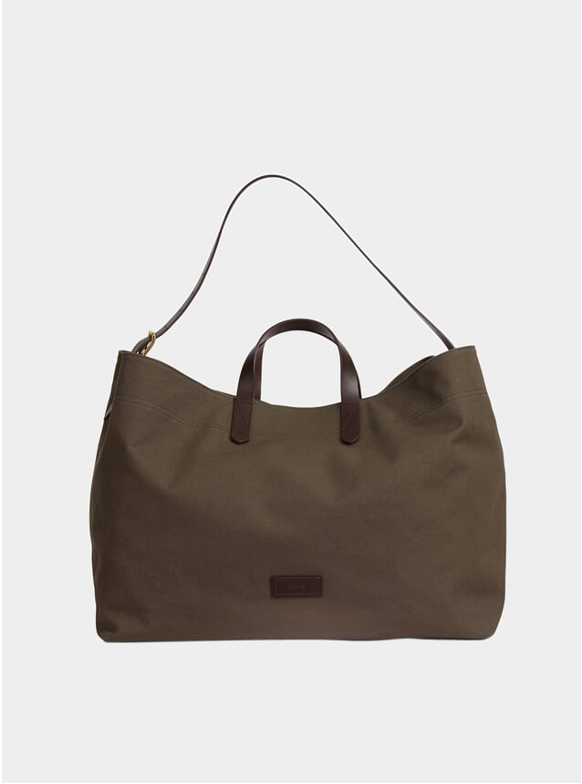 Army / Dark Brown Canvas M/S Haven Bag