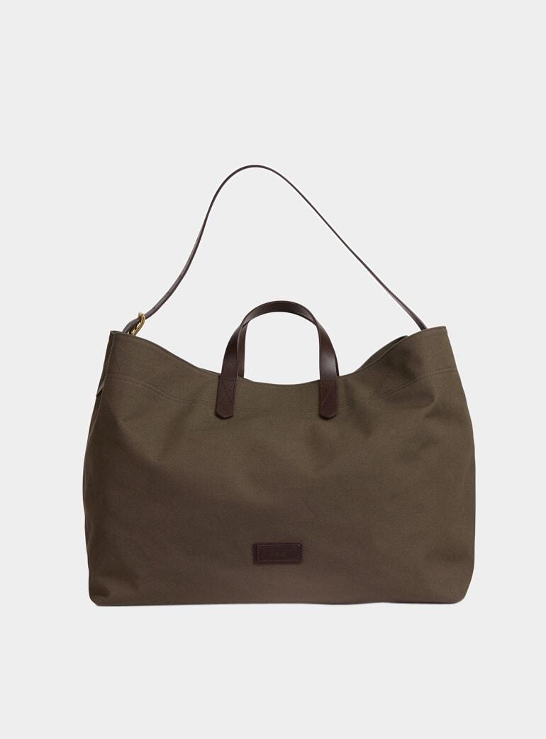 Army Dark Brown Canvas M S Haven Bag