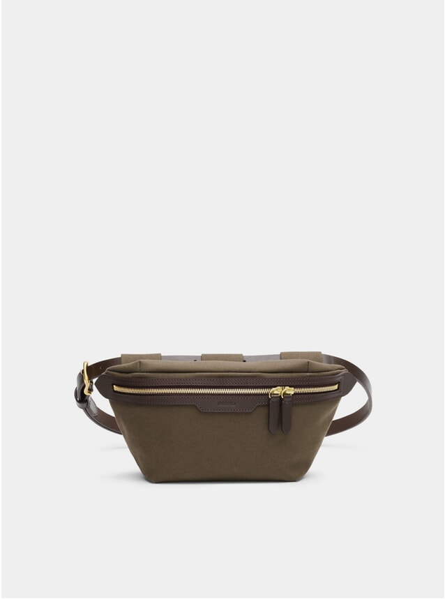 Army / Dark Brown M/S Belt Bag
