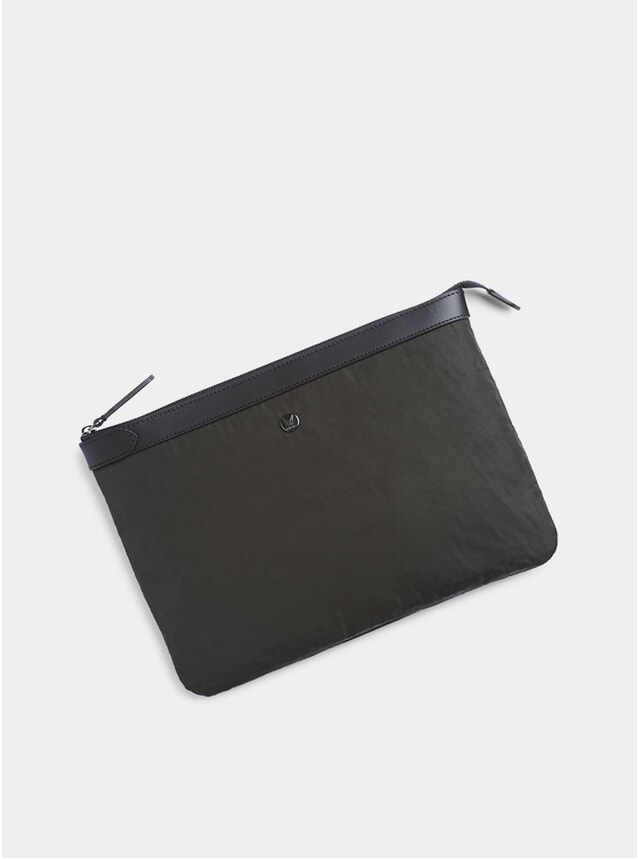 Beluga / Black M/S Large Pouch