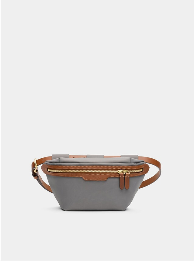 Concrete / Cuoio M/S Belt Bag