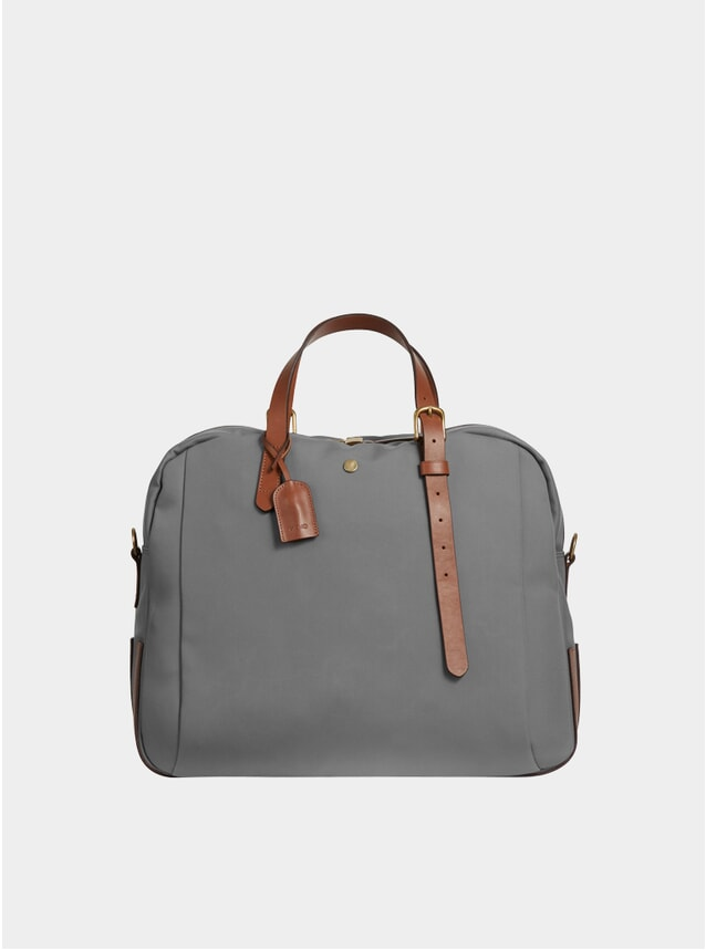 Concrete / Cuoio Canvas M/S Something Holdall Bag