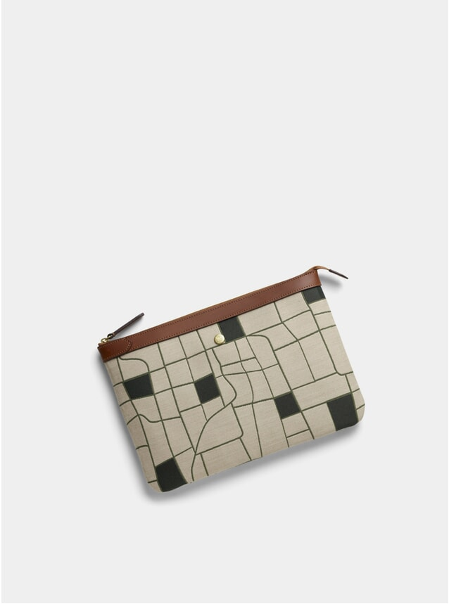 Farmer's Track / Cuoio M/S Large Pouch