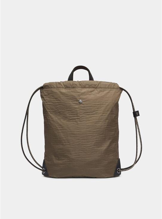 Golden Camel / Black M/S Drawstring Bag