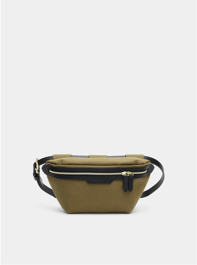 Khaki / Black M/S Belt Bag