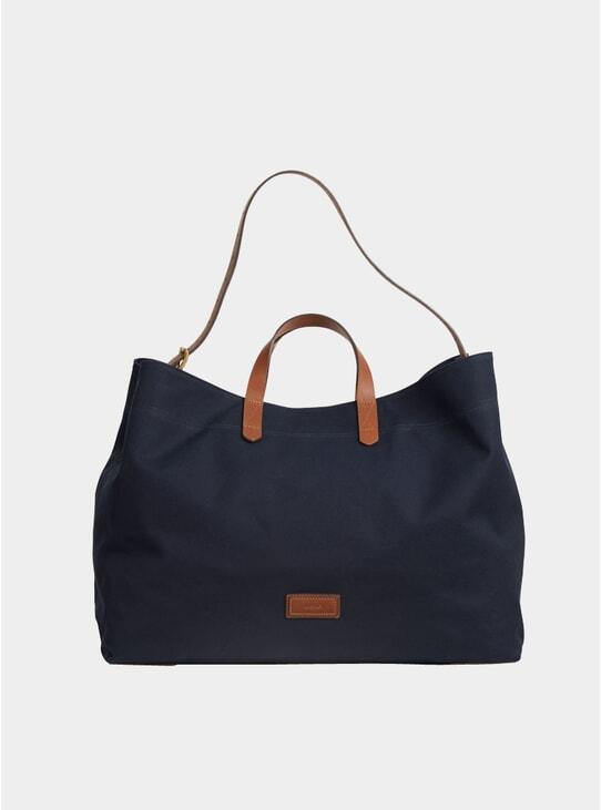 Midnight Blue / Cuoio Cotton M/S Haven Bag