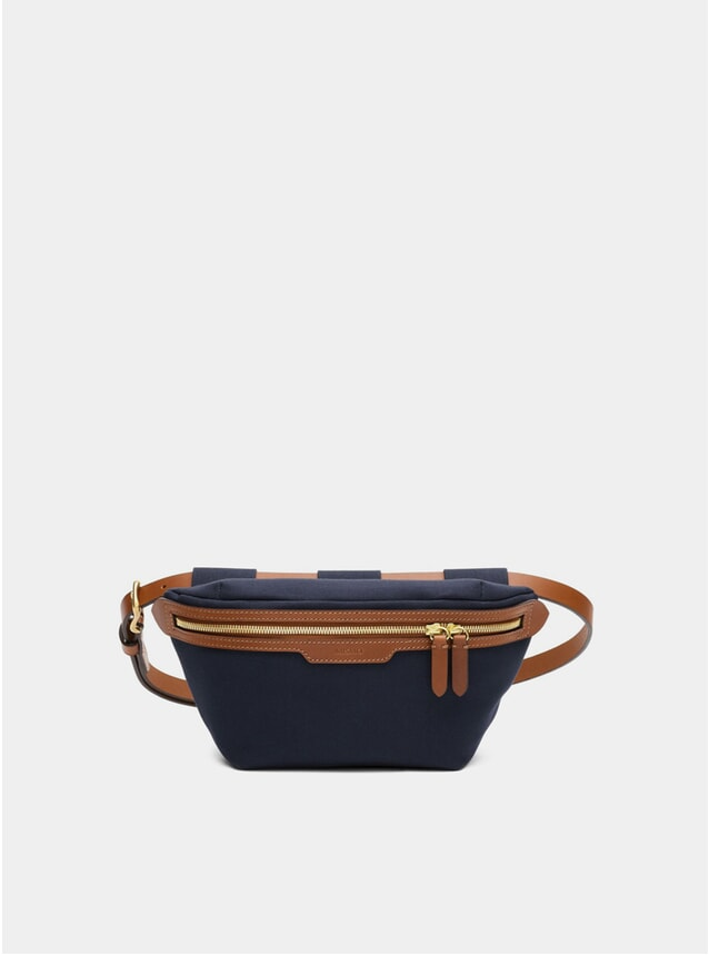 Midnight Blue / Cuoio M/S Belt Bag
