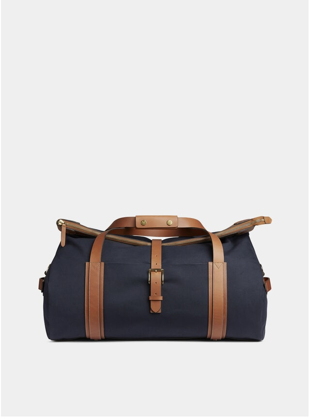 Midnight Blue / Cuoio M/S Explorer Bag