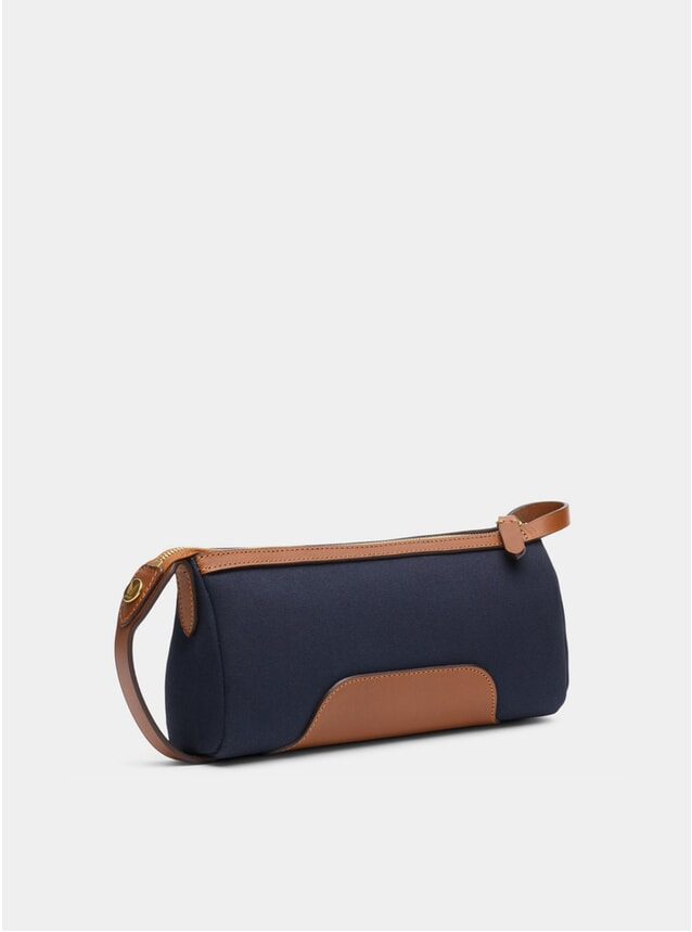 Midnight Blue / Cuoio M/S Prime Wash Bag
