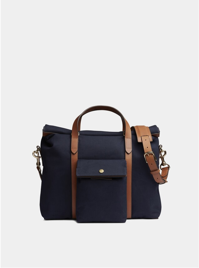 Midnight Blue / Cuoio M/S Soft Work Bag