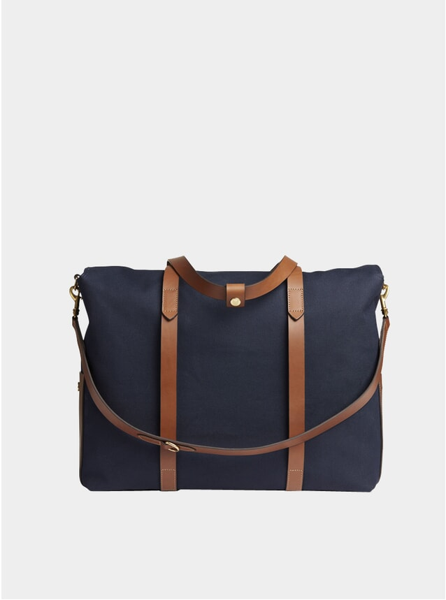 Midnight Blue / Cuoioi Cotton M/S Mega Tote