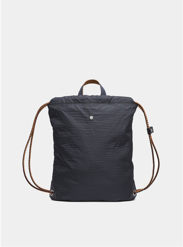 Moonlight Blue / Black M/S Drawstring Bag