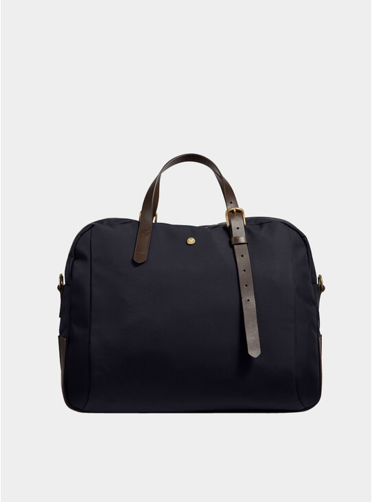Navy / Dark Brown M/S Something Bag