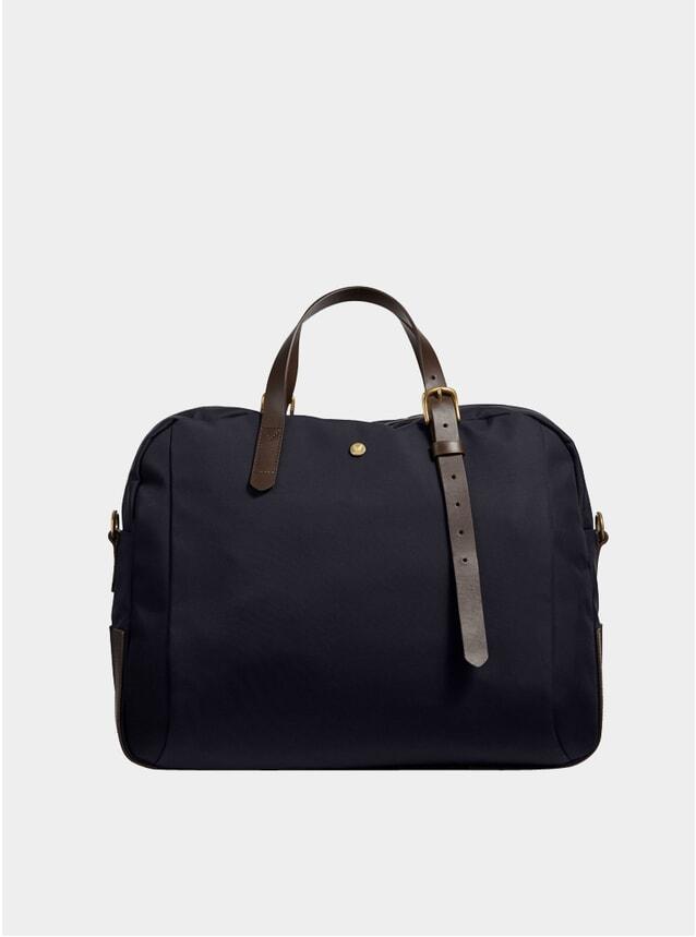 Navy / Dark Brown M/S Something Bag