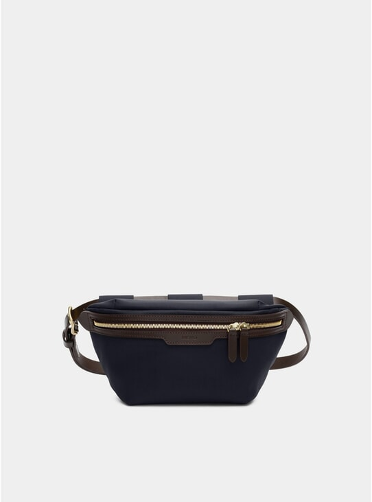 Navy / Dark Brown M/S Belt Bag