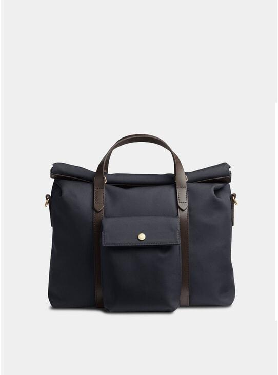 Navy / Dark Brown M/S Soft Work Bag
