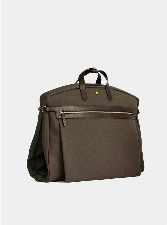 Army / Dark Brown M/S Suit Carrier