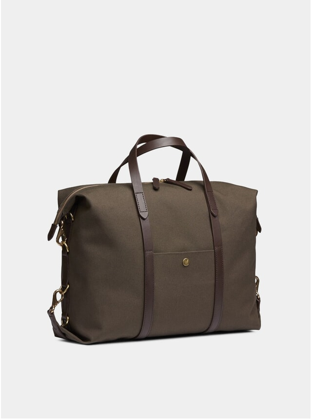 Army / Dark Brown Cotton M/S Utility Holdall