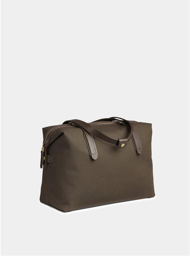 Army / Dark Brown M/S Weekend Bag