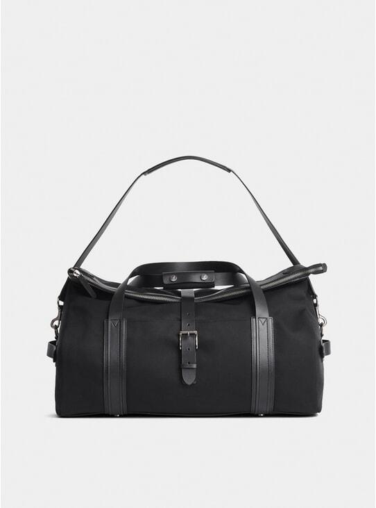 Black M/S Leather Trim Explorer Weekend Bag