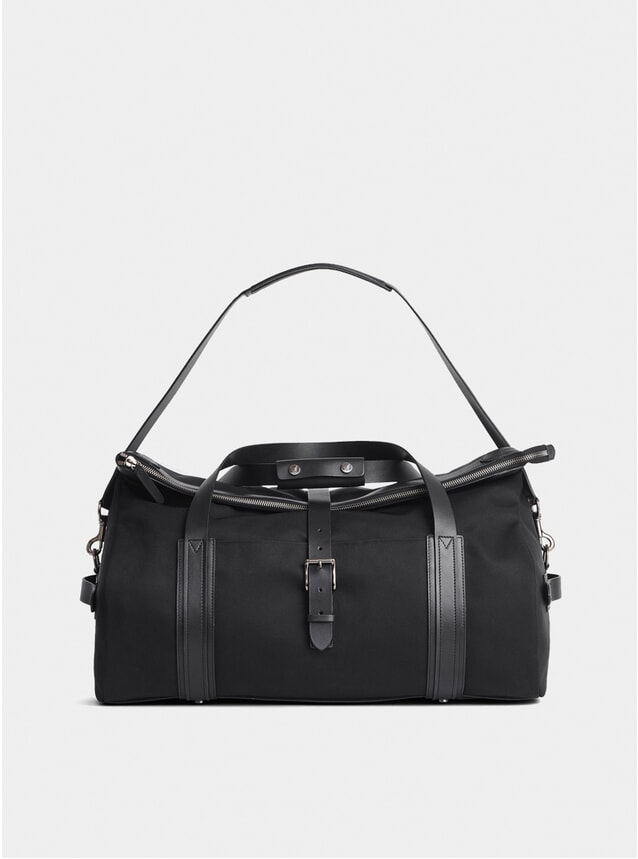 Black M/S Leather Trim Explorer Weekend Bag