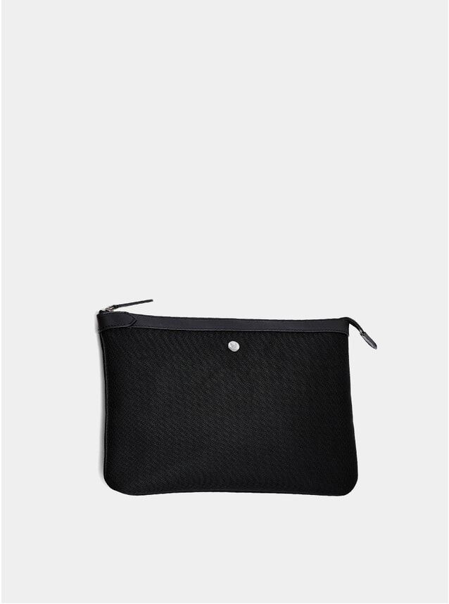 Black Large M/S Zip Pouch