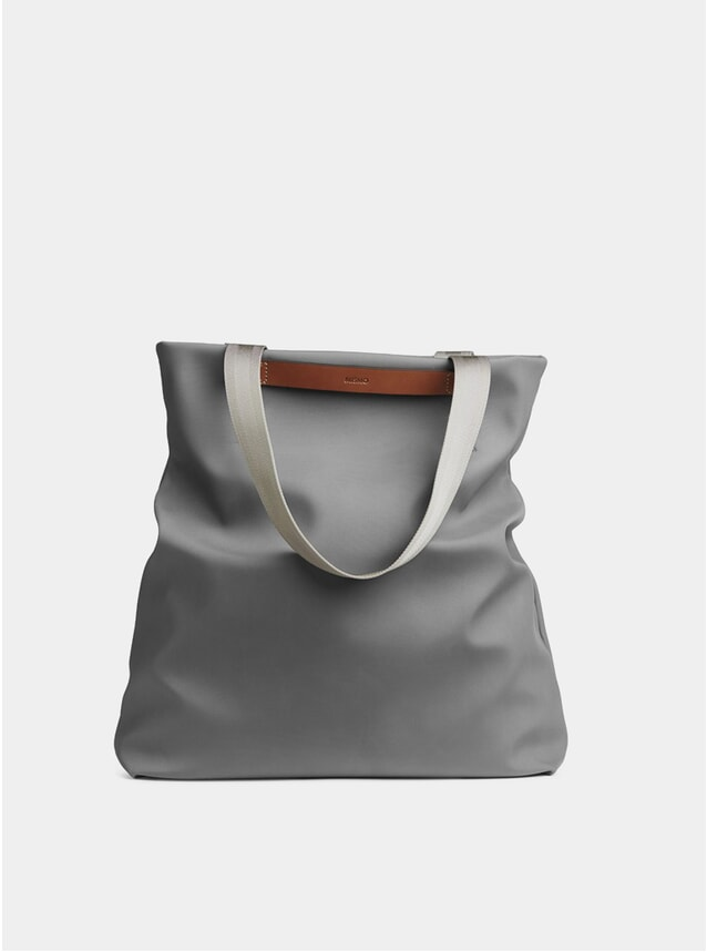 Concrete / Cuoio Canvas M/S Flair Tote