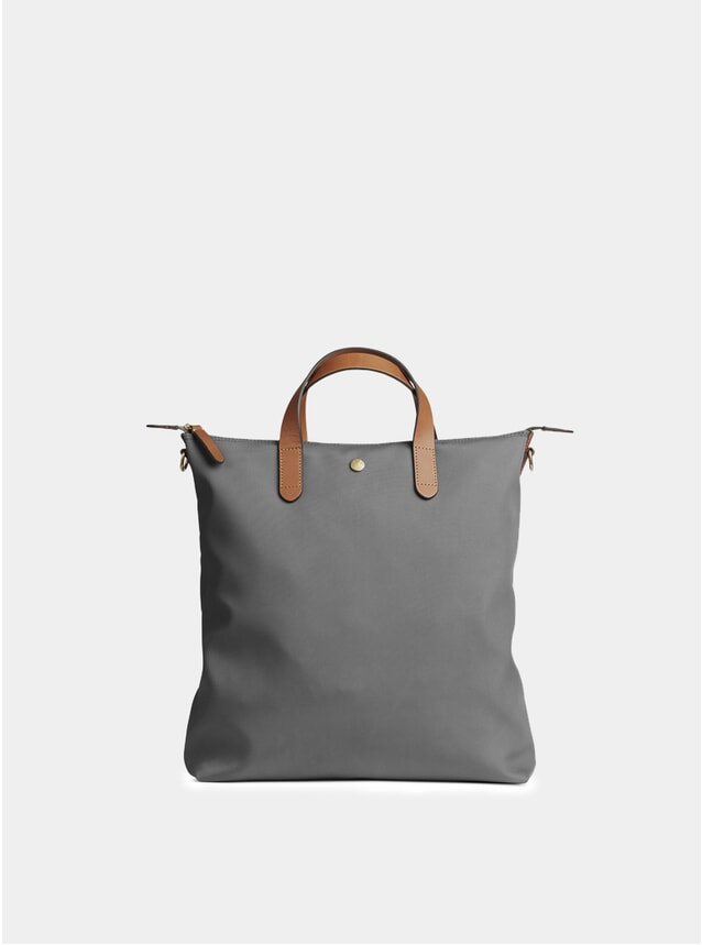 Concrete / Cuoio Leather Trim M/S Shopper
