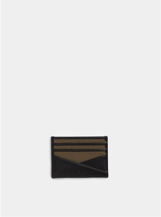 Khaki / Black MS Cardholder