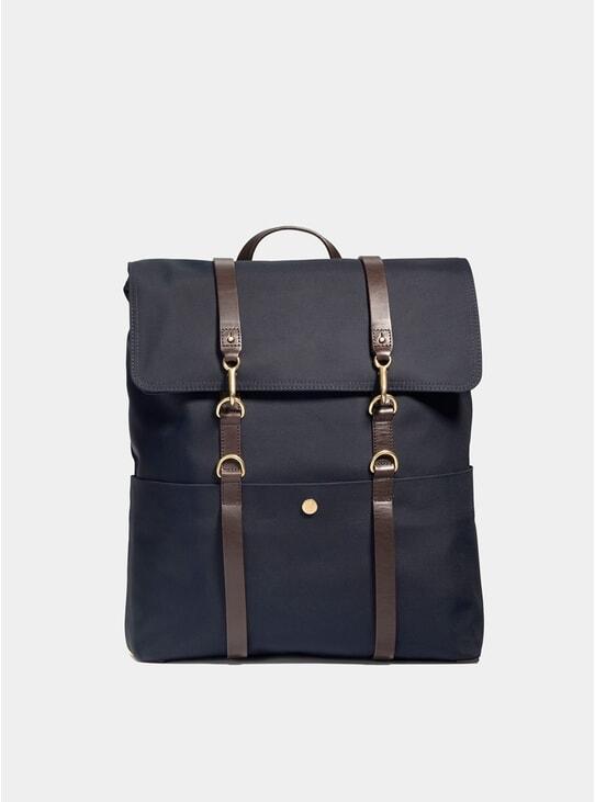 Navy / Dark Brown M/S Backpack